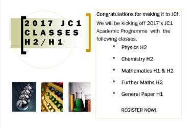 JC1 Classes Commence!