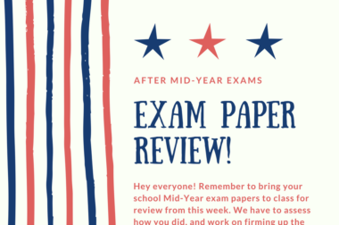 Post Mid-Year Exam Reviews!