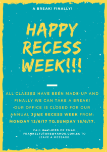 Recess Week Closure FB and WEB