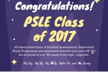 Congratulations PSLE Class of 2017!